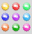 Speech bubbles icon sign symbol on nine wavy vector image vector image