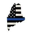 state maine police support flag vector image vector image
