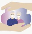 take care coronavirus concept protect vector image vector image