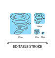 tornado turquoise linear icons set vector image