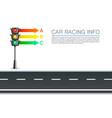 traffic signal info on a white background vector image vector image