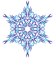 tribal ornament in the shape of snowflakes vector image vector image