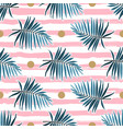 Tropical leaves seamless pattern green palm