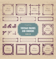 vintage calligraphic frames and corners vector image vector image