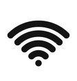 wifi symbol wireless internet connection or vector image vector image