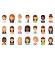women faces avatars in flat design vector image vector image