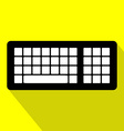 Computer Keyboard Flat Design Icon with Long vector image