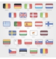 icons depicting the flags of the EU countries vector image