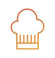restaurant hat of chef service symbol vector image