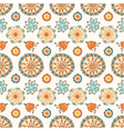 seamless color decorative flower pattern vector image