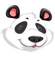 a head of panda vector image