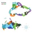 Abstract color map of Russia vector image