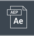 aep icon after effects file icon vector image