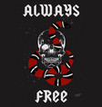 always free type in rock metal style fashion vector image