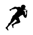 american football player uniform helmet silhouette vector image vector image