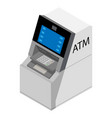 atm isometric view isolated on white background vector image vector image