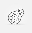 bacteria minimal icon in line style vector image vector image