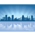 baltimore maryland skyline vector image vector image