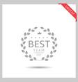 best team icon vector image