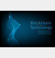 blockchain technology connect together concept vector image vector image