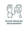 blood pressure measurement line icon vector image vector image