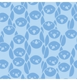 Blue penguines seamless pattern background vector image