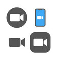 camera icons - live media streaming application vector image vector image