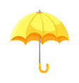 cartoon yellow umbrella flat style icon isolated vector image
