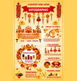 chinese new year holiday infographic template vector image