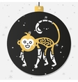 Chinese New Year monkey decoration ball vector image vector image