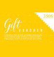 collection style gift voucher background vector image vector image