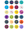 Color round arrows icons set vector image vector image