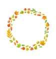 cute leaves arranged in ring shape isolated vector image
