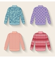 cute sweater set vector image vector image