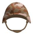 desert camo helmet mockup realistic style vector image vector image