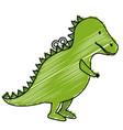 dinosaur rex toy icon vector image vector image