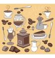 Doodle coffee vector image vector image