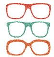 Dotted eyeglasses set vector image vector image