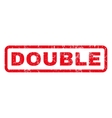 Double Rubber Stamp vector image vector image
