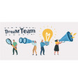dream team team work leadership qualities vector image vector image