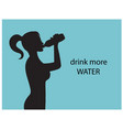 drink more water for health vector image vector image