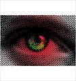 eye halftone dots vector image vector image