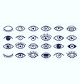 eye icons collection vector image vector image