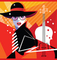 fashion woman in style pop art vector image vector image