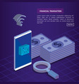 finacial transaction isometric set icons vector image vector image