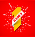 first winner first place banner number one with vector image vector image