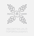 Floral monogram simple and graceful design vector image