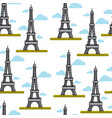 france symbols eiffel tower seamless pattern paris vector image