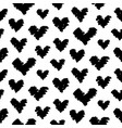 hand drawn hearts doodles seamless pattern vector image