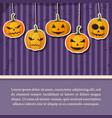 happy halloween vintage template vector image vector image